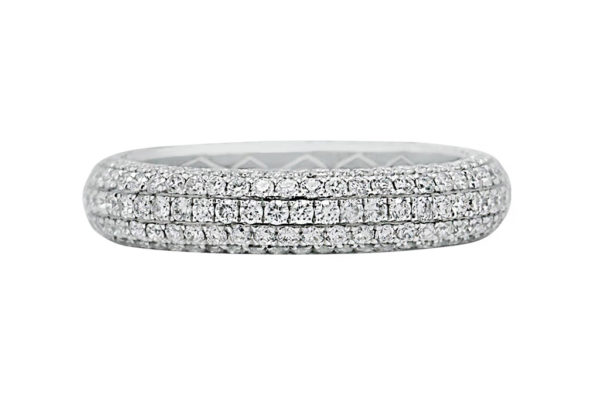 18 ct wg pave diamond eternity band by kalfin jewellery