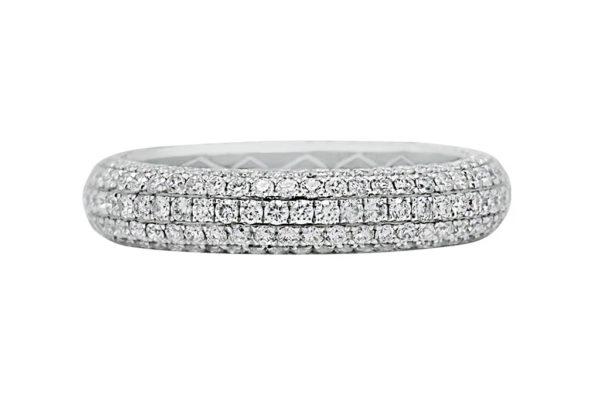 18 ct wg pave diamond eternity band by kalfin jewellery