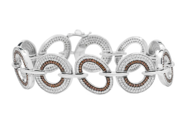 18 ct wg champagne diamond and diamond bracelet by kalfin jewellery