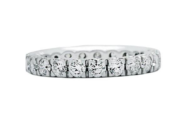 18 ct wg custom design rbc diamond eternity ring by kalfin jewellery