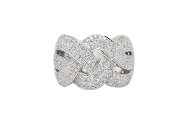 18 ct wg custom made pave diamond dress ring by kalfin jewellery