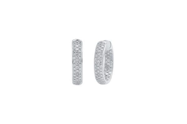 18 ct wg diamond pave hoops by kalfin jewellery