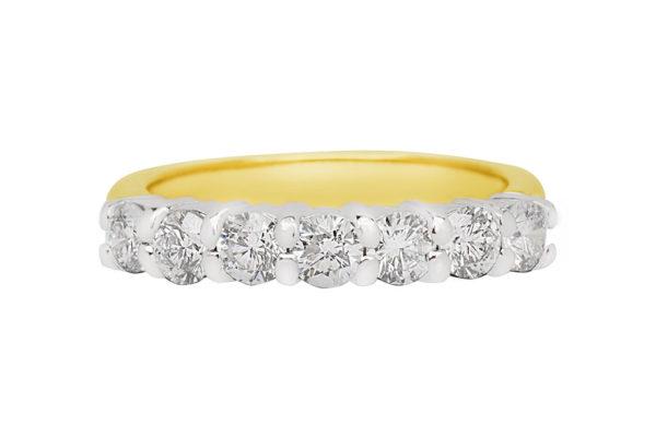18ct 2 tone diamond eternity ring custom made by kalfin jewellery