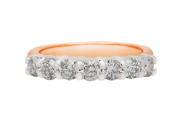 18ct pink gold eternity ring by kalfin jewellery