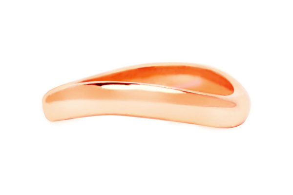 18ct pink gold plain band by kalfin jewellery