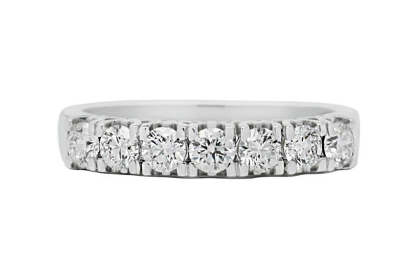 18 ct wg double row diamond eternity band by kalfin jewellery