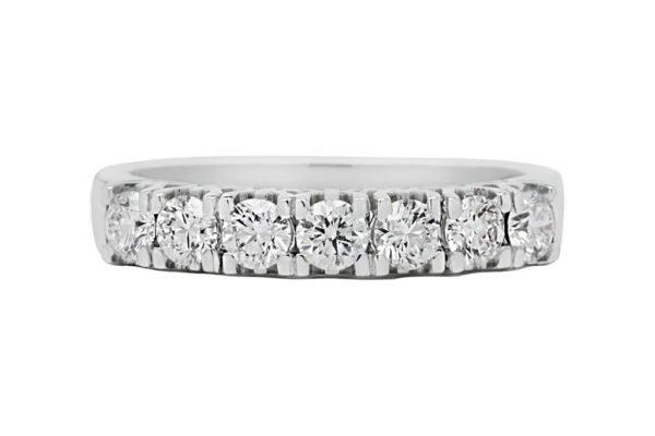 18 ct wg double row diamond eternity band by kalfin jewellery