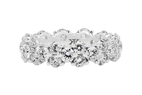 18ct white gold custom design diamond eternity ring by kalfin jewellery