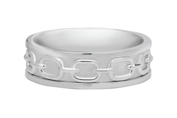 18ct white gold custom design gents ring by kalfin jewellery