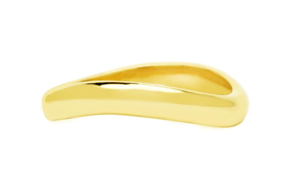 18ct yellow gold plain band custom made by kalfin jewellery
