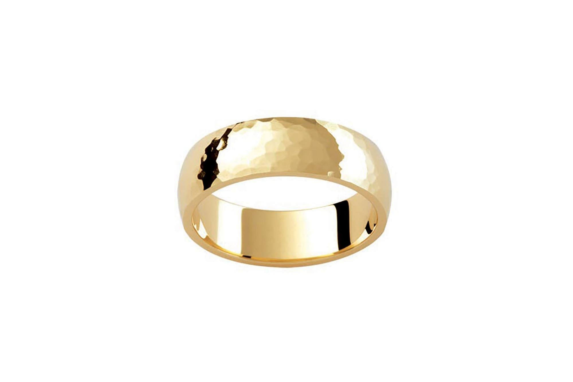 ring band rings unisex pin plain gold wedding white polished
