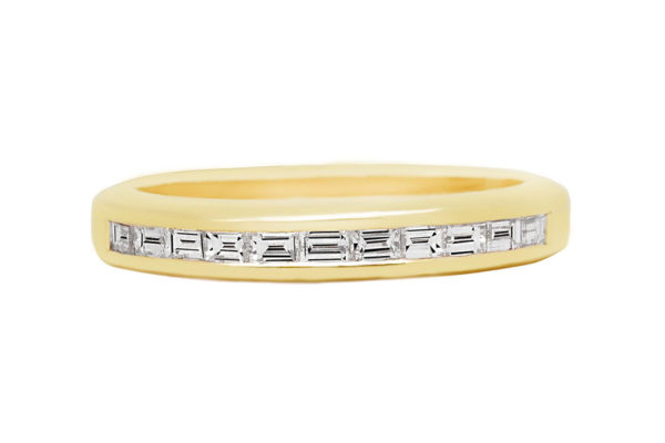18ct white gold plain band by kalfin jewellery