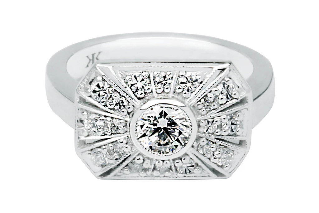 Antique Filagree Engagement Ring