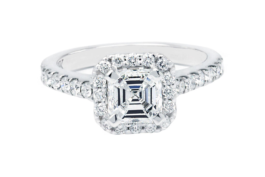 Asscher Cut Halo Ring