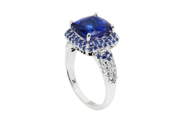 blue sapphire diamond rings by kalfin jewellery