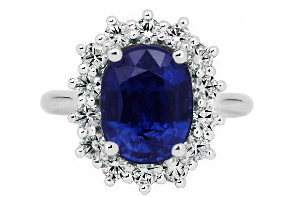 Classic Oval Blue Sapphire