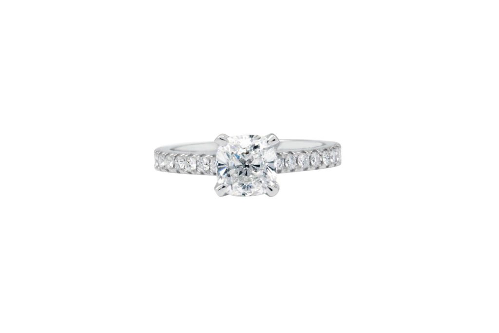 Kalfin Side Stone Engagement Ring
