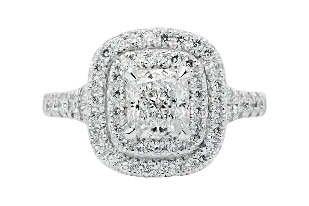 Cushion Cut Double Halo