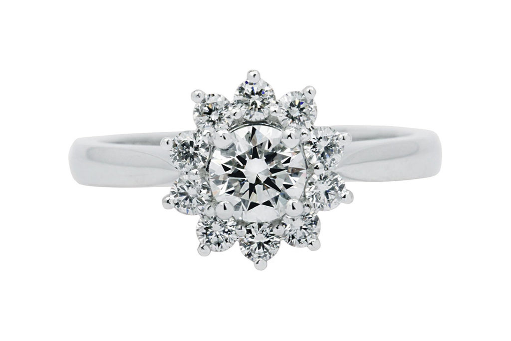 Custom Halo Snowflake Ring