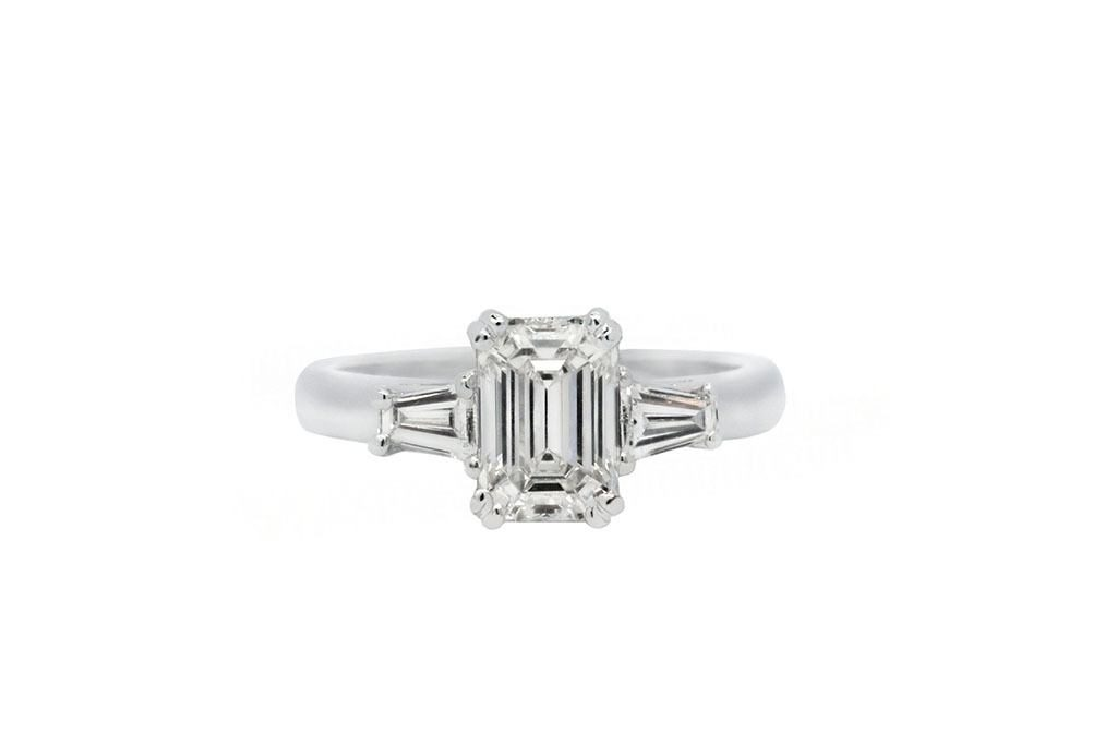 Picture Of Trilogy Style 3 Stone Proposal Ring