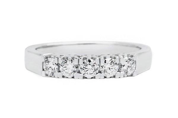 platinum 5 stone diamond ring by kalfin jewellery