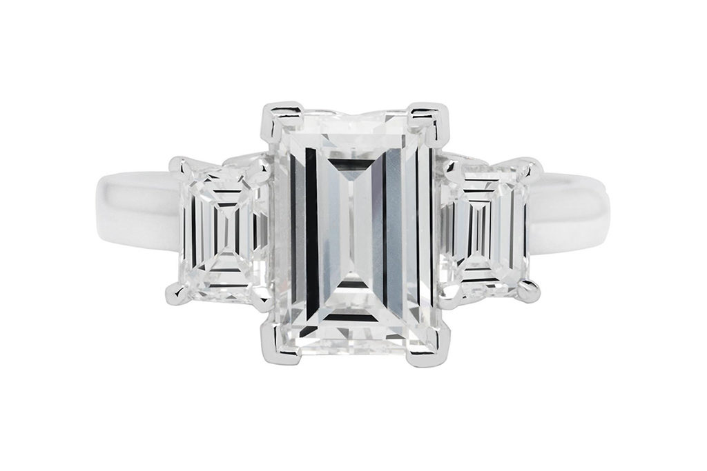 Platinum Emerald Cut