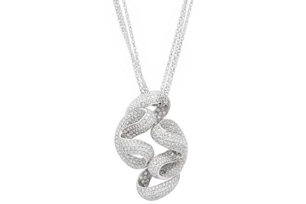 platinum custom design pave diamond pendant with white gold chainby kalfin jewellery