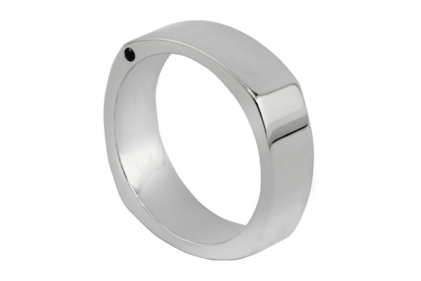 Platinum custom design plain gents ring by kalfin jewellery