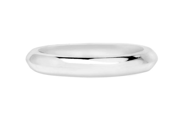 platinum ring knife edge plain band by kalfin jewellery