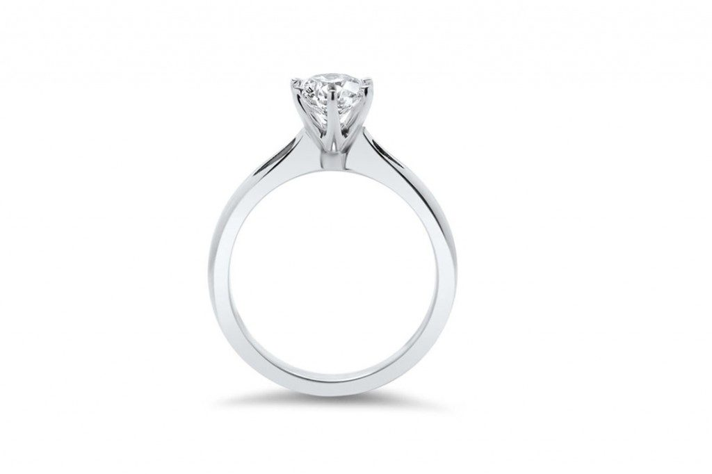 Picture Of Solitaire White Gold Proposal Ring