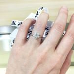 Solitaire Engagement Ring on Hand by Kalfin Jewellery