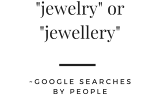 is it spelled jewelry or jewellery