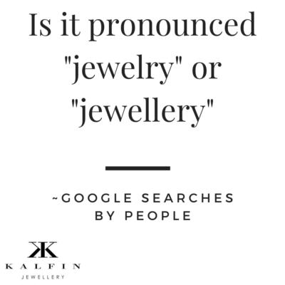 is it spelled jewelry or jewellery