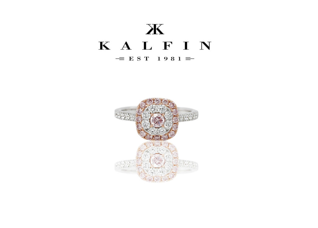 Custom Made Argyle Pink Diamond Engagement Ring by Kalfin jewellery