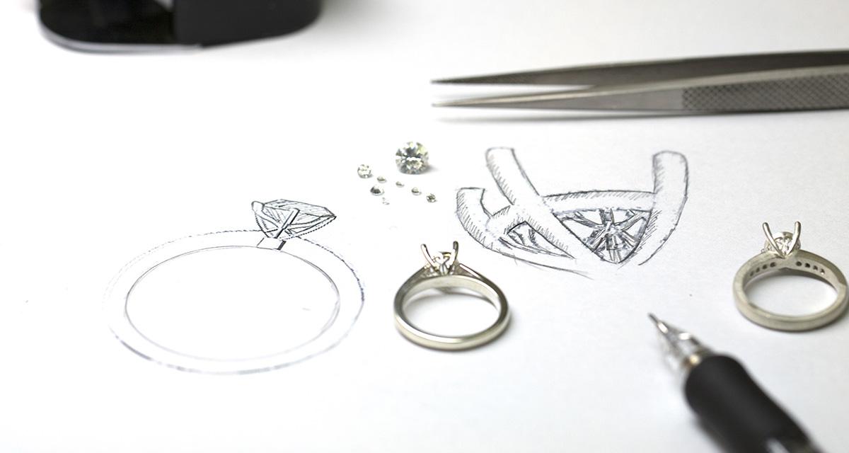 Custom made jewellery services by kalfin