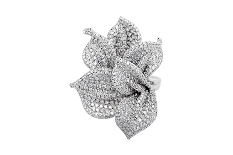 Flower with diamonds by Kalfin Jewellery