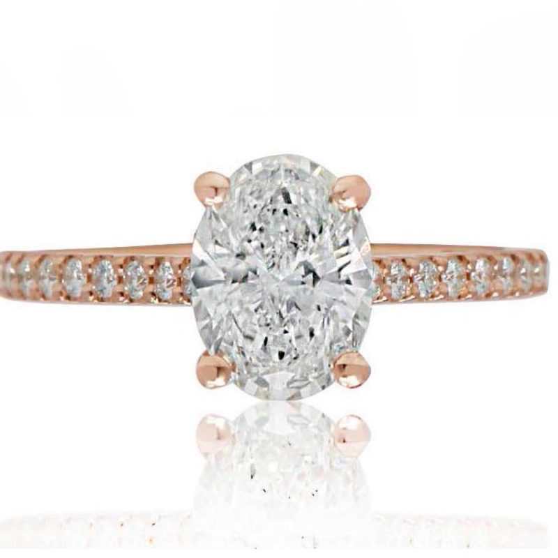 ISABELLA rose gold oval diamond engagement ring