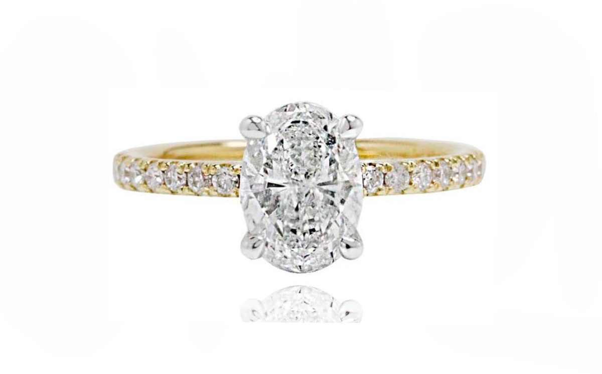 Reina yellow gold diamond engagement ring