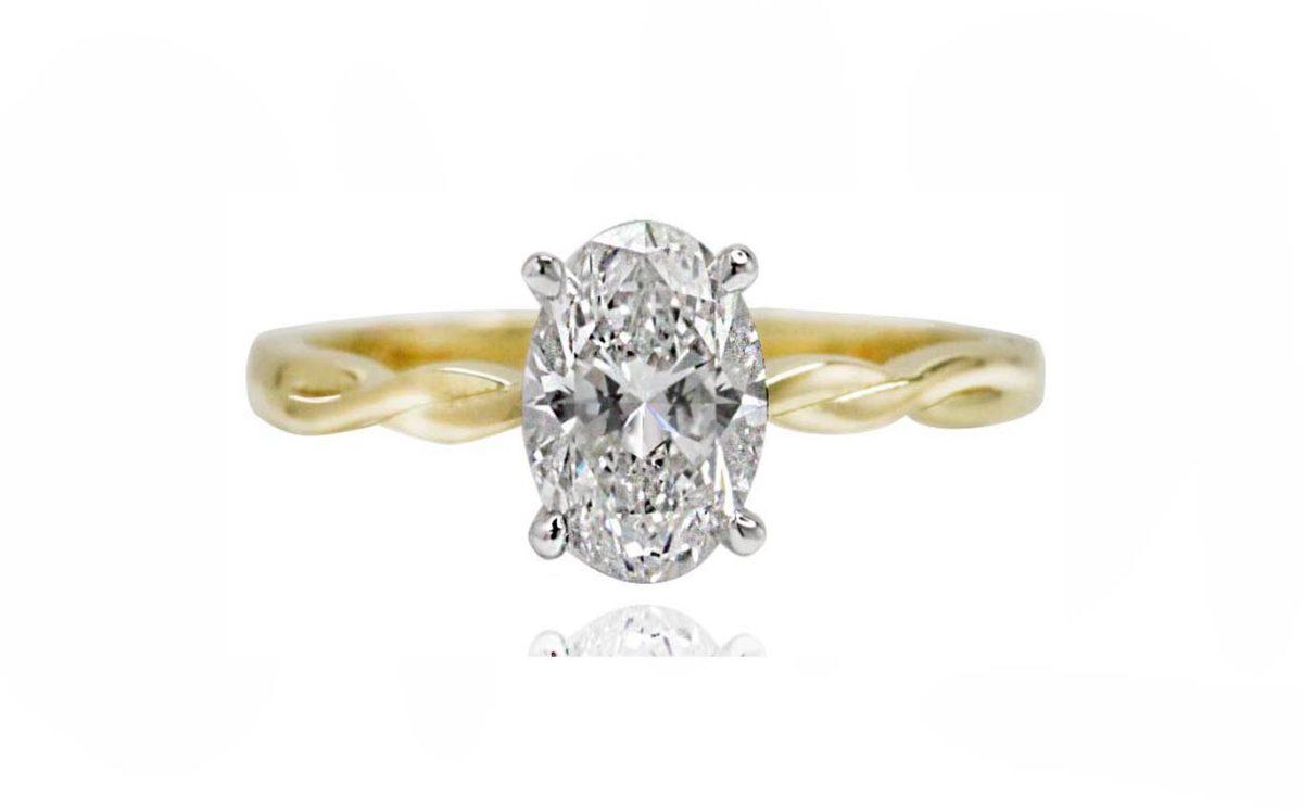 zara yellow gold diamond engagement ring