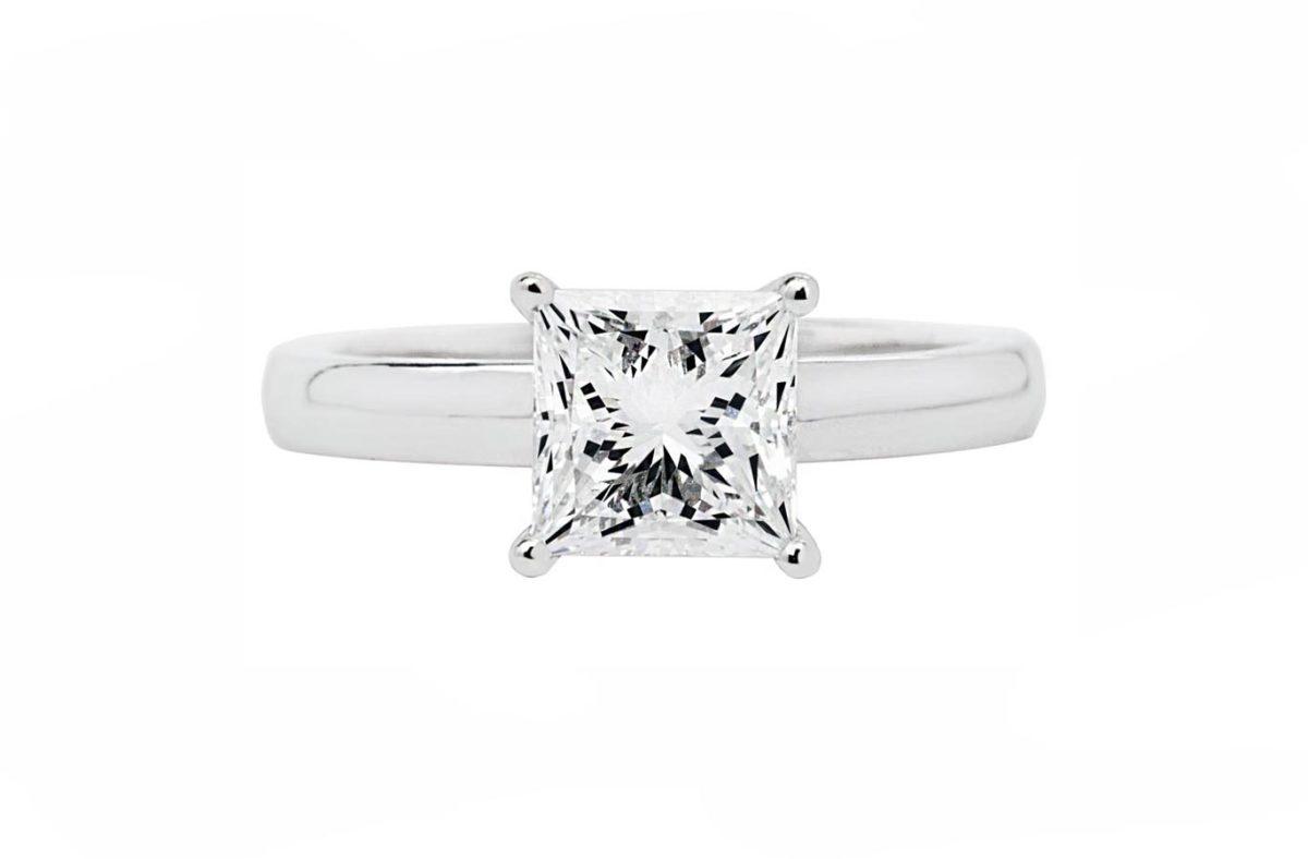 white gold engagement ring prnc