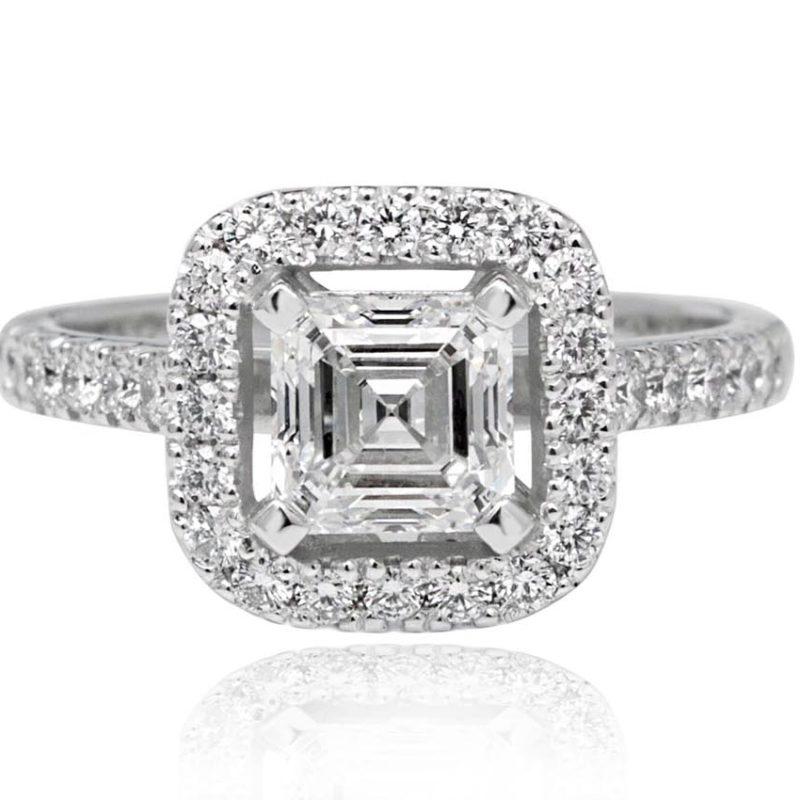 Ash white gold diamond engagement ring