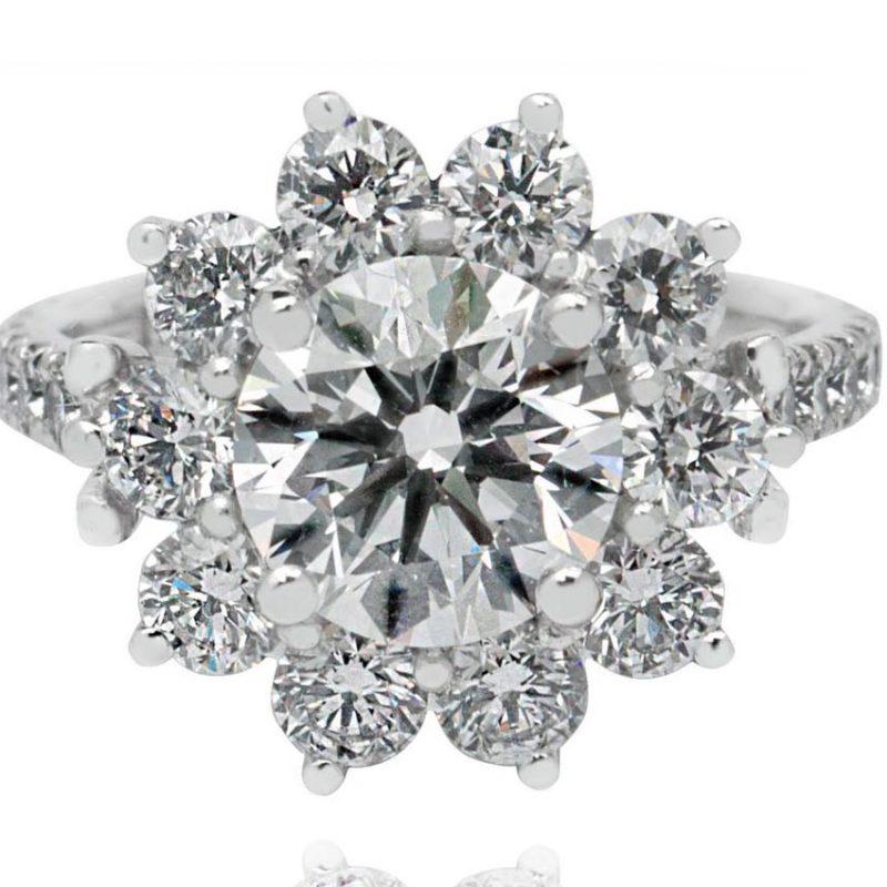 Chiara white gold diamond engagement ring