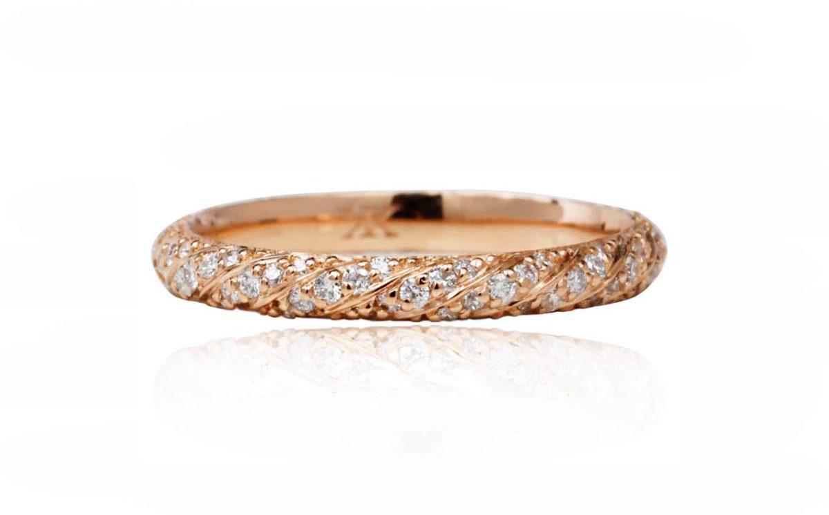 Calla rose gold ring