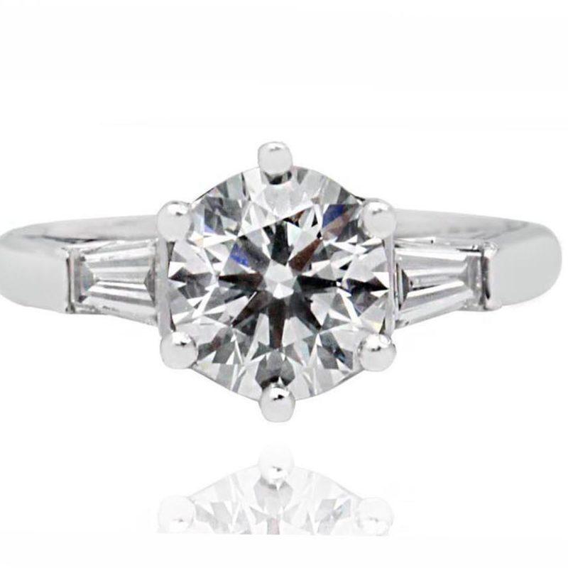 DIA white gold diamond engagement ring