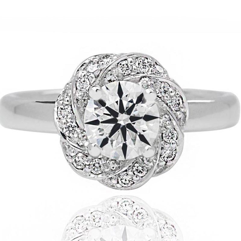Elena white gold diamond engagement ring
