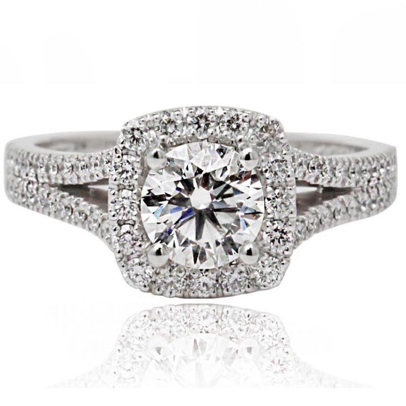 Eliza white gold diamond engagement ring