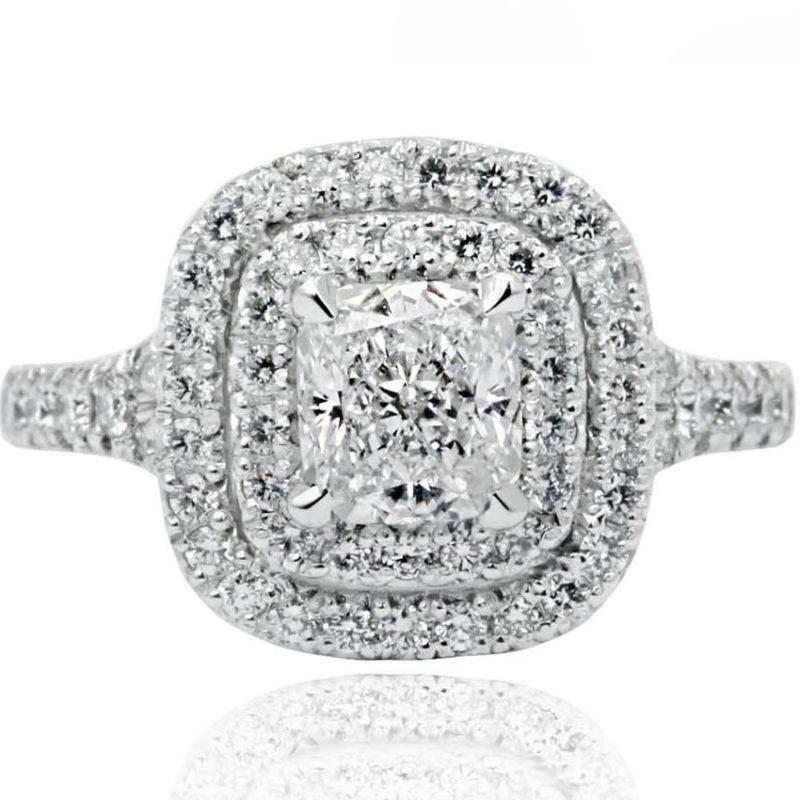 LAVINYA white gold ring with diamonds