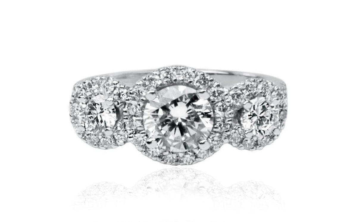 Lantanas white gold diamond engagement ring