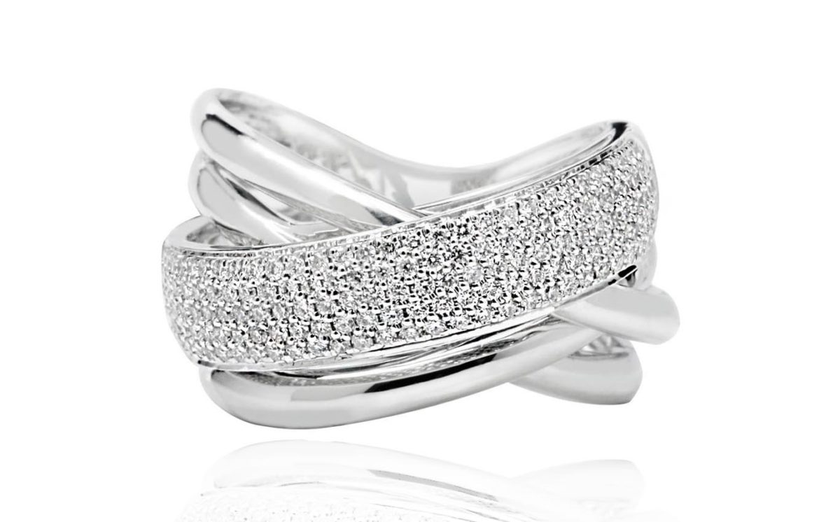 Michelle Dress ring white gold with diamonds