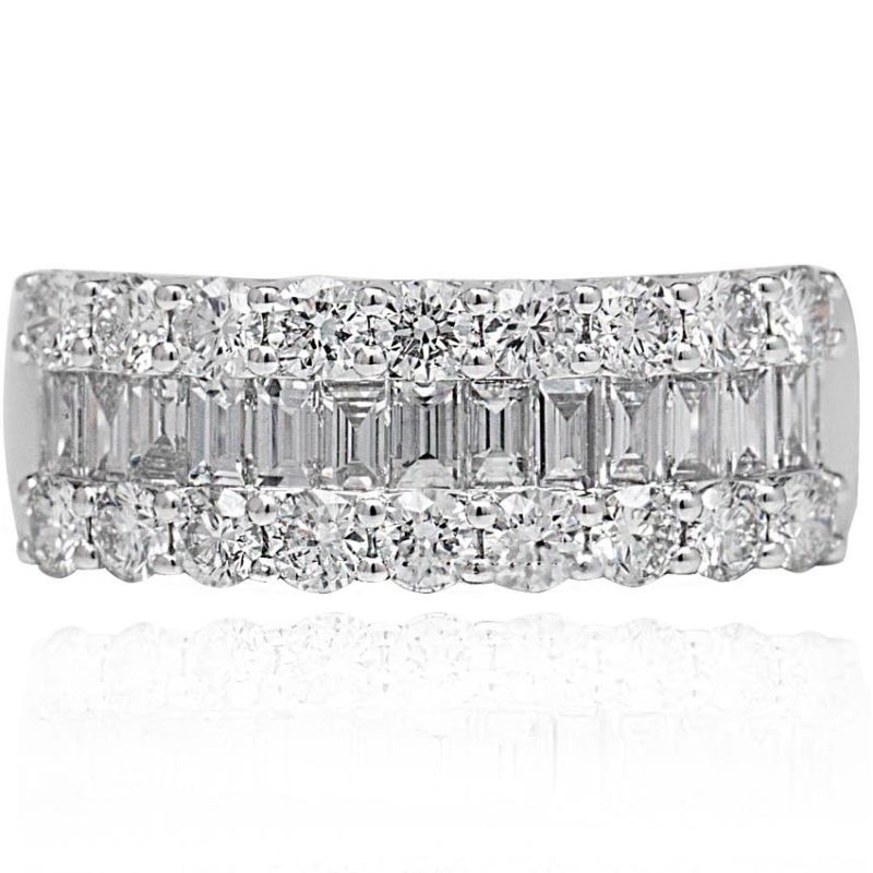Nancie white gold ring with diamonds